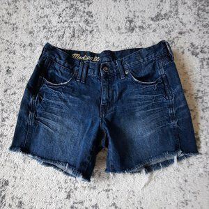 Madewell Whiskered Cotton Denim Jeans Shorts sz 25
